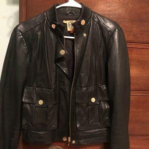 Tory Burch black leather jacket 8 medium